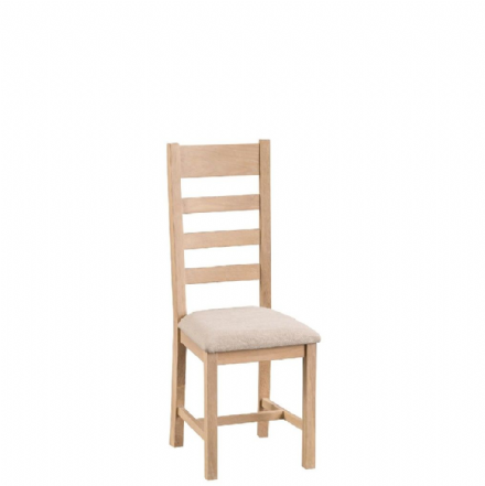 Malmo Oak Ladder Back Chairs with Fabric Seat